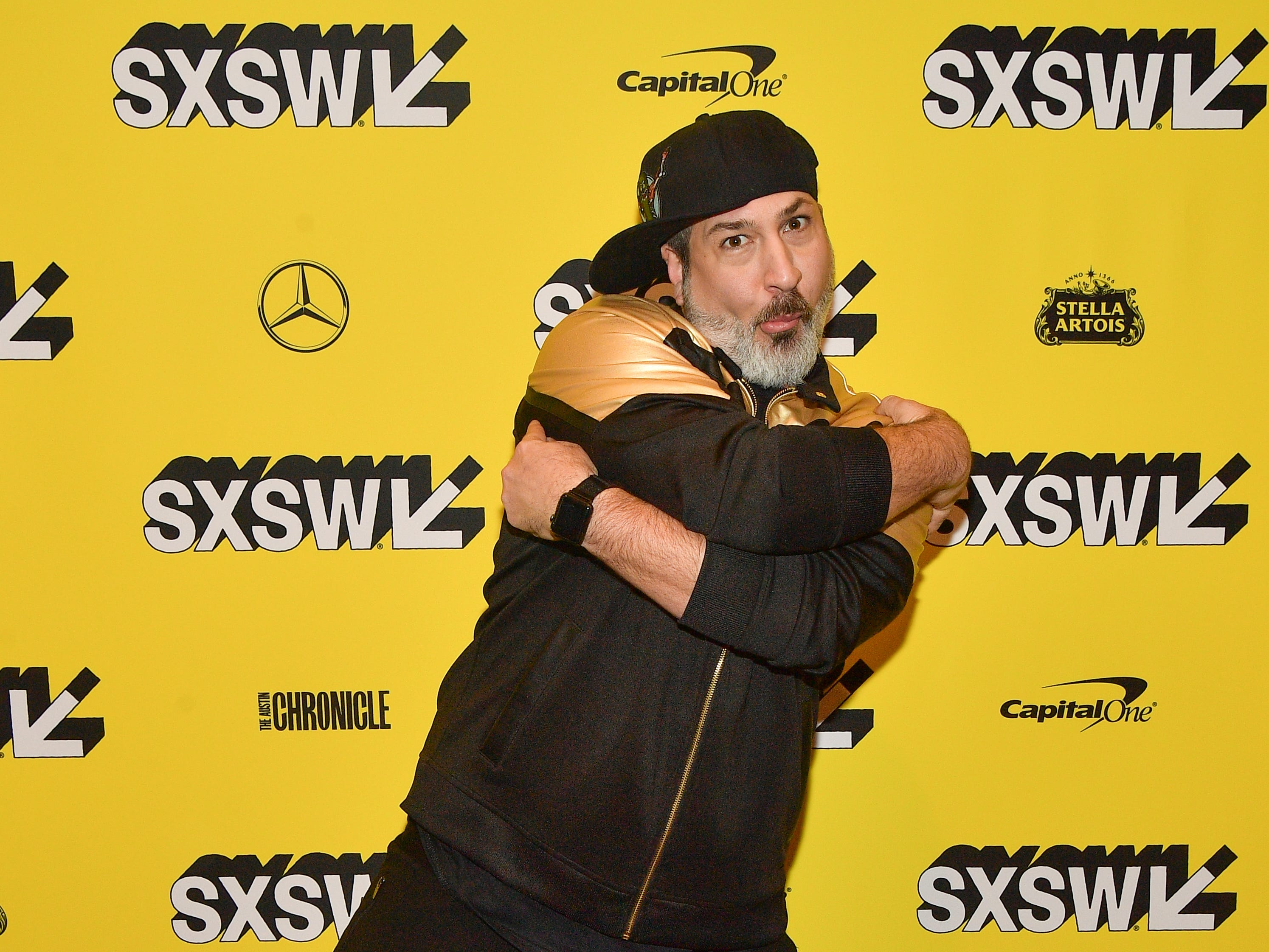 "AUSTIN, TEXAS - MARCH 13: Joey Fatone attends the ""The Boy Band Con: The Lou Pearlman Story"" Premiere - 2019 SXSW Conference and Festivals at Paramount Theatre on March 13, 2019 in Austin, Texas. (Photo by Matt Winkelmeyer/Getty Images for SXSW) ORG XMIT: 775313185 ORIG FILE ID: 1135616255"