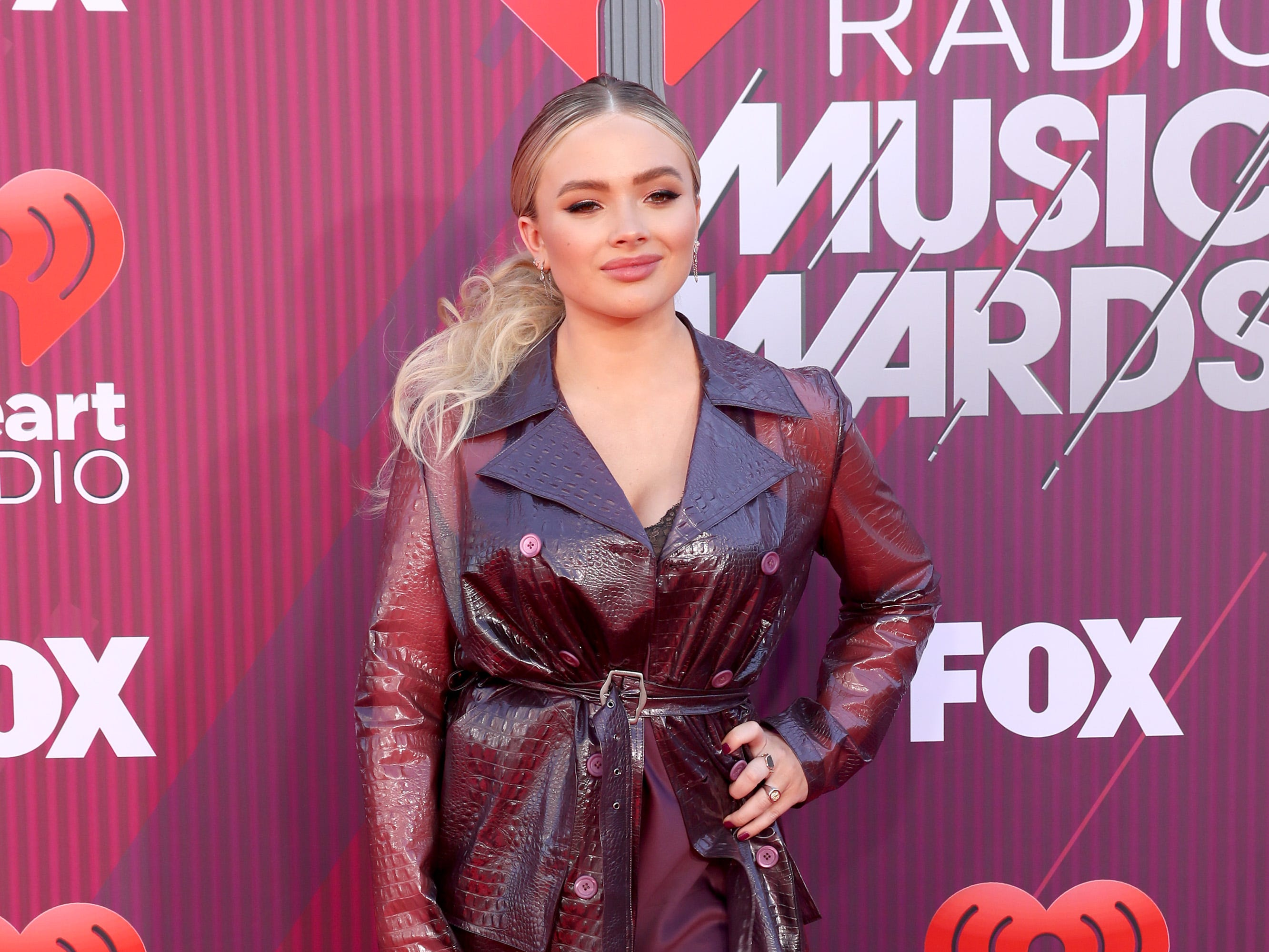 Natalie Alyn Lind arrives at the iHeartRadio Music Awards.