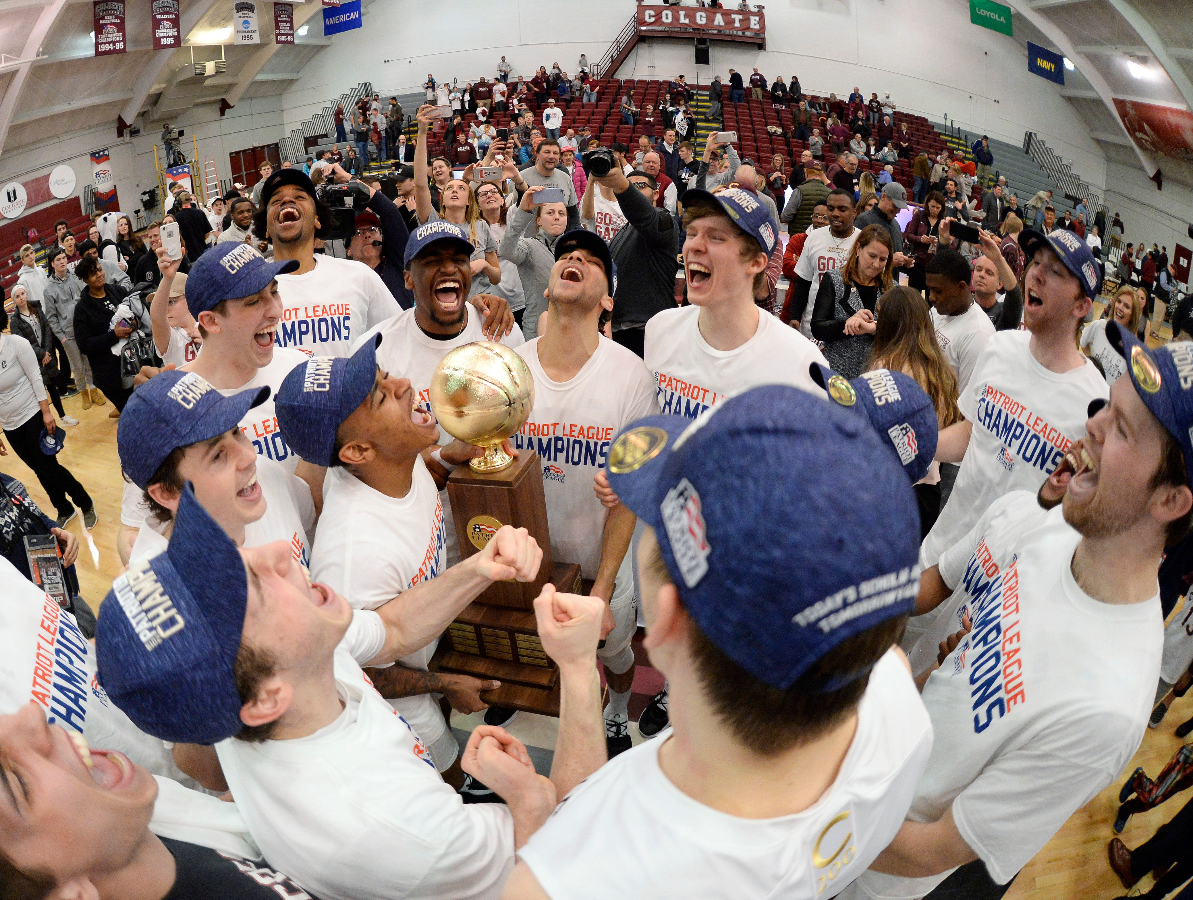 Colgate (24-10), No. 15 seed in South, Patriot League champion