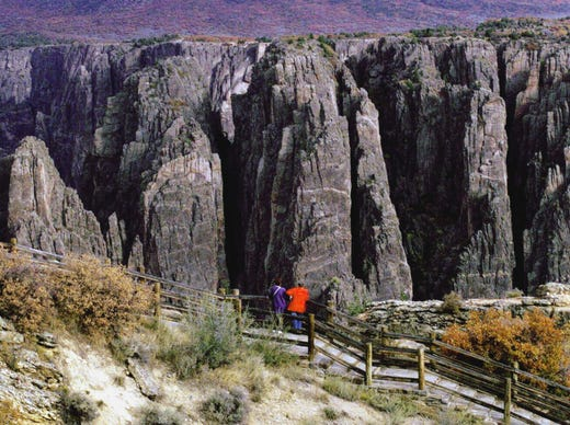 16. Black Canyon of the Gunnison National Park: 308,962 visitors