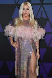 US singer Kesha attends the 10th Annual Governors Awards gala hosted by the Academy of Motion Picture Arts and Sciences at the the Dolby Theater  on November 18, 2018.