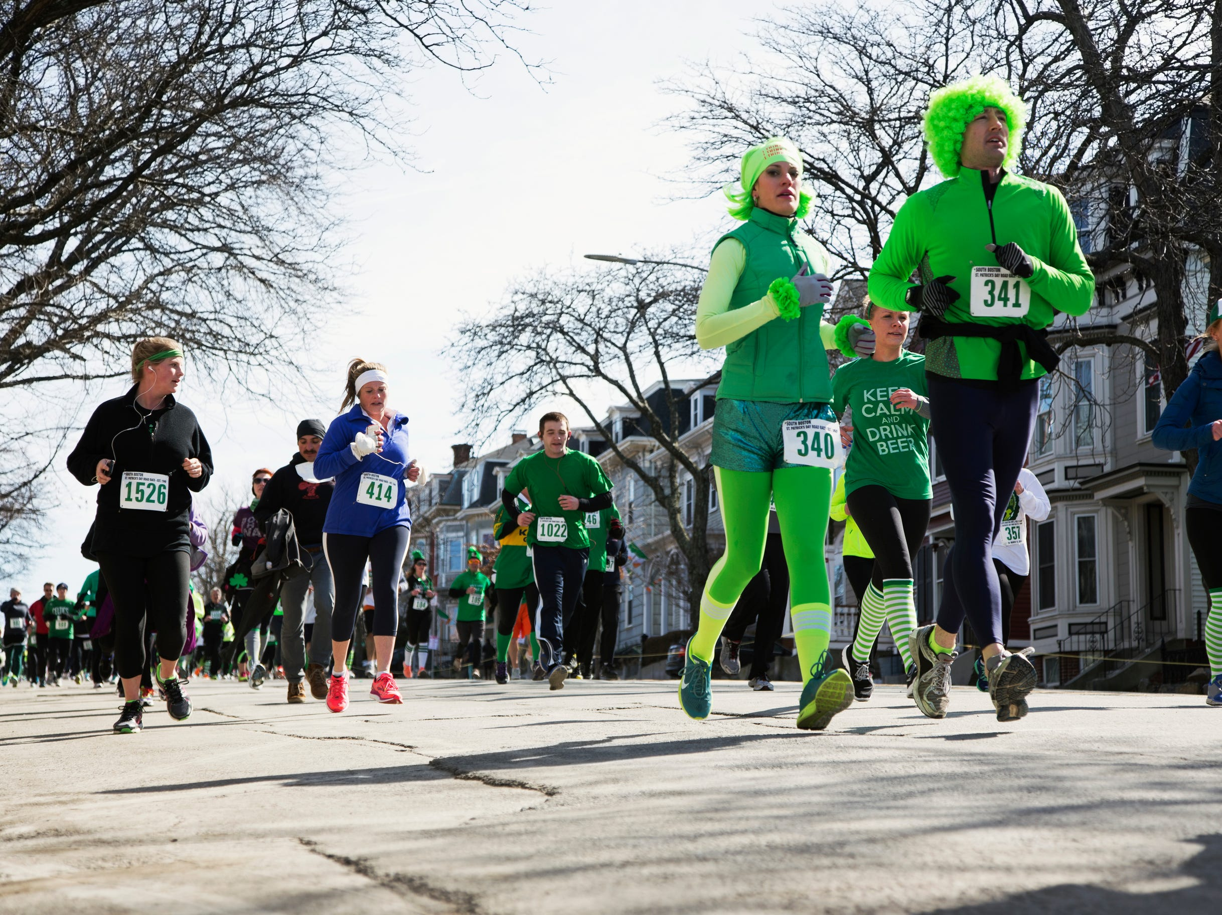 Joggers South Boston St Patrick S Day Road Race South Boston Massachusetts Usa 03 16 2014
