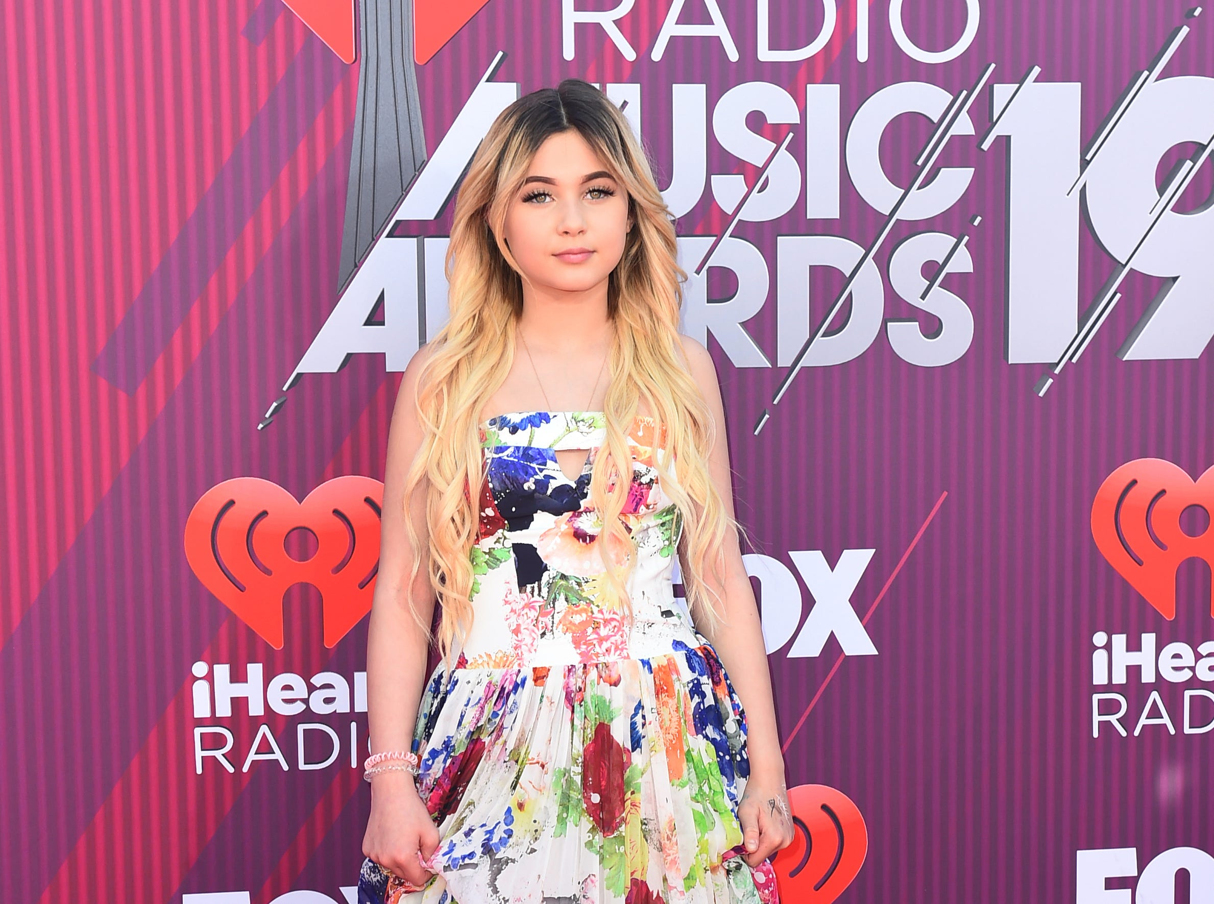 Alabama Luella Barker arrives at the iHeartRadio Music Awards.