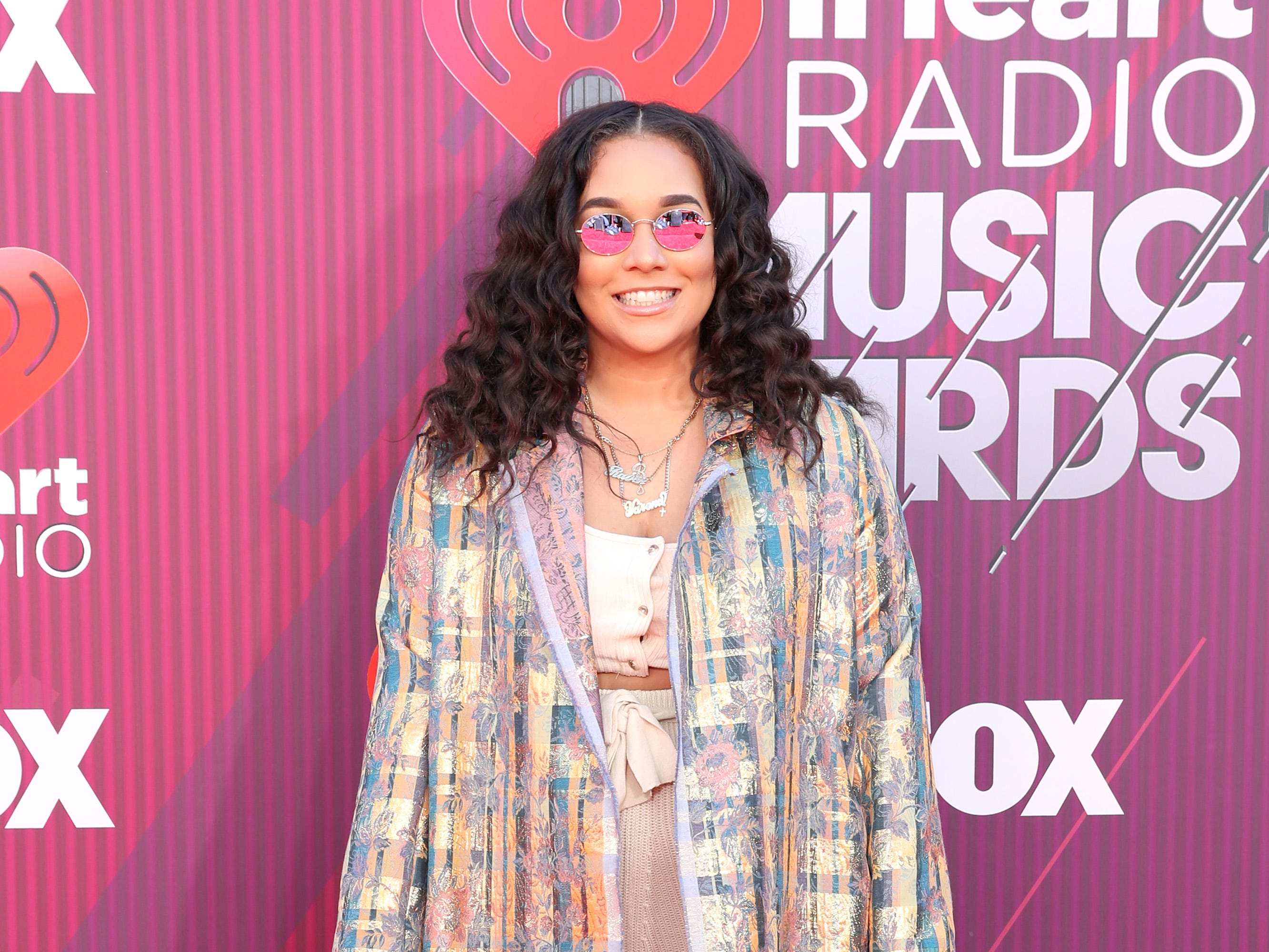 Raven B. arrives at the iHeartRadio Music Awards.