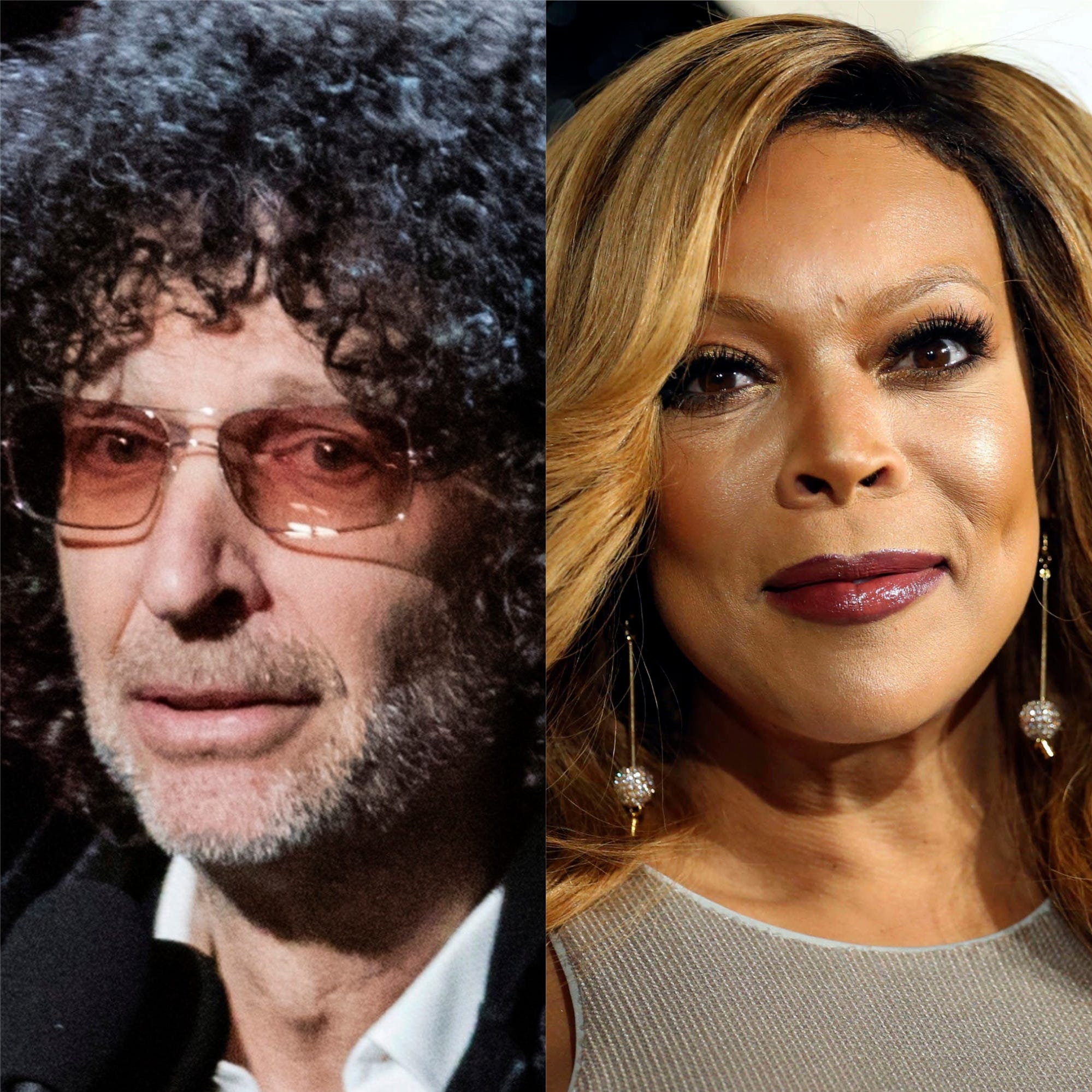 Howard Stern, left, is feuding with Wendy Williams. Stern is seen here at the 2018 Rock and Roll Hall of Fame Induction Ceremony in Cleveland.  Williams is pictured during the 2014 Soul Train Awards in Las Vegas.