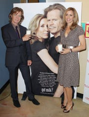 William H. Macy and Felicity Huffman unveil 'Got Milk' ad and announce Scholastic Parent & Child Magazine 'Family Of The Year' at Zimmer Museum on May 23, 2011 in Los Angeles,