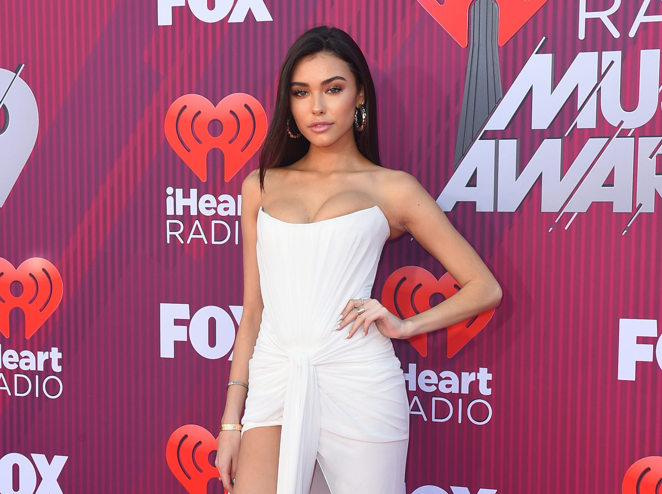Madison Beer arrives at the iHeartRadio Music Awards.