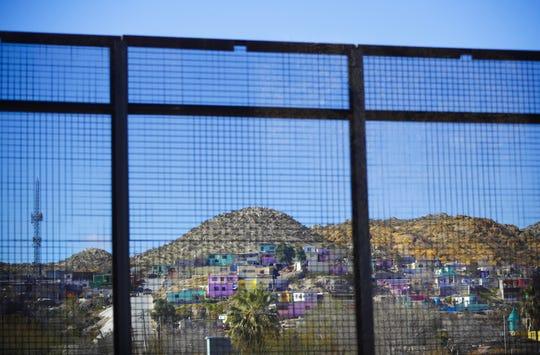 The Mexican city of Ciudad Juarez seen through border fencing in El Paso, Texas.