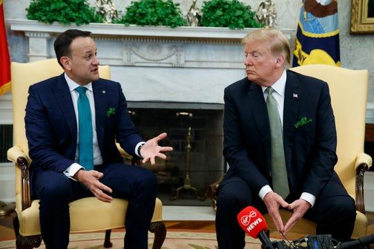 President Donald Trump and Irish Prime Minister Leo Varadkar in the Oval Office on Thursday.