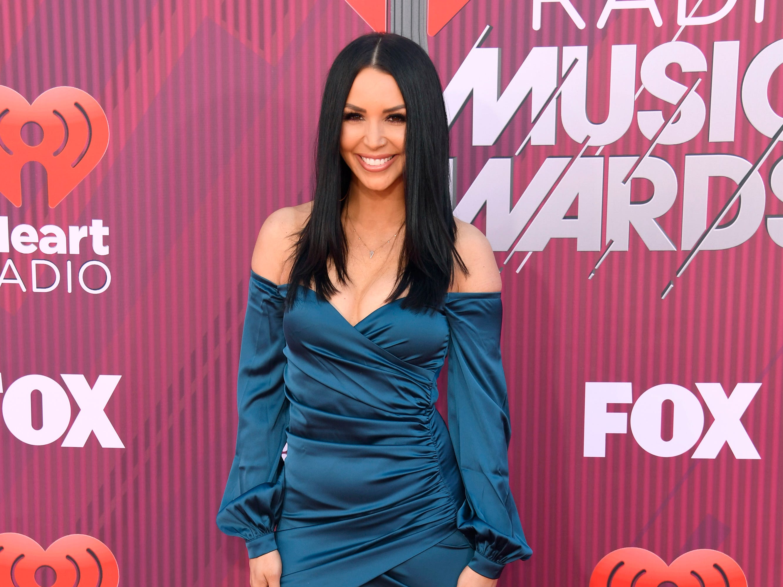 Scheana Marie arrives at the iHeartRadio Music Awards.