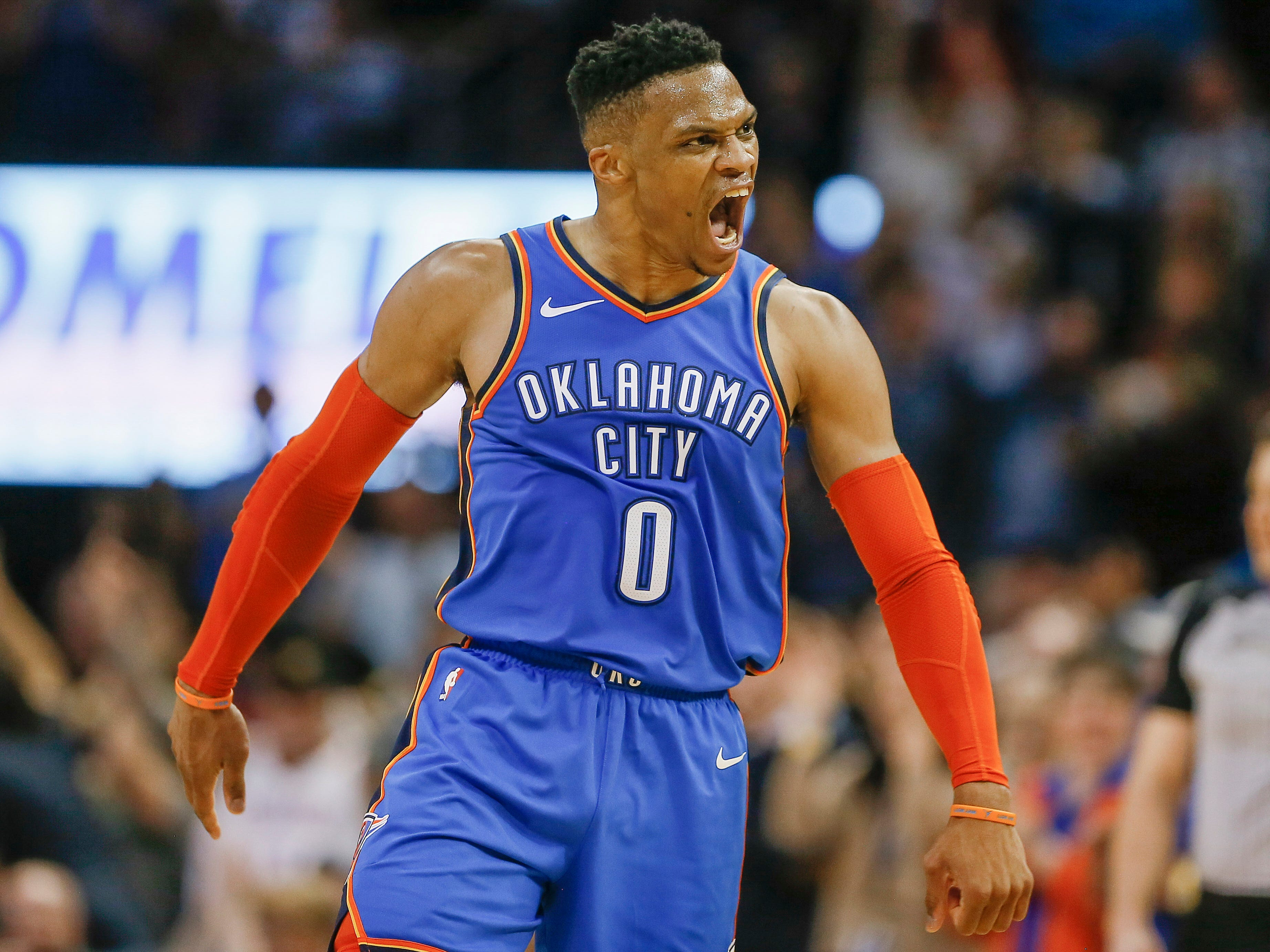 99.Russell Westbrook, Thunder (March 13): 31 points, 11 assists, 12 rebounds in 108-96 win over Nets (26th of season).