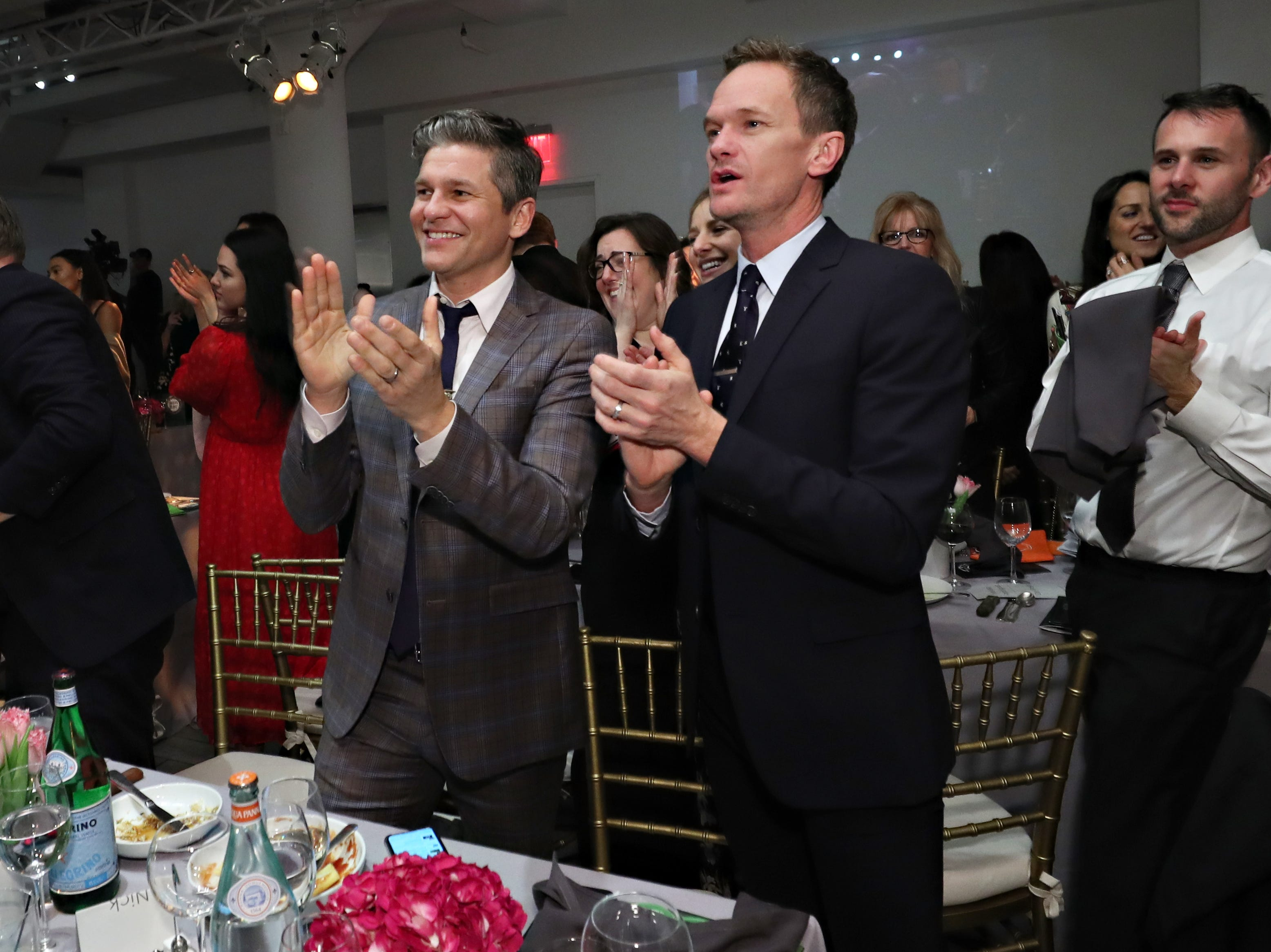 NEW YORK, NY - MARCH 12:  David Burtka and Neil Patrick Harris attend the 2019 Chefs For Kids' Cancer at Metropolitan Pavilion Metro West on March 12, 2019 in New York City.  (Photo by Cindy Ord/Getty Images  for Cookies for Kids' Cancer) ORG XMIT: 775308364 ORIG FILE ID: 1130159529