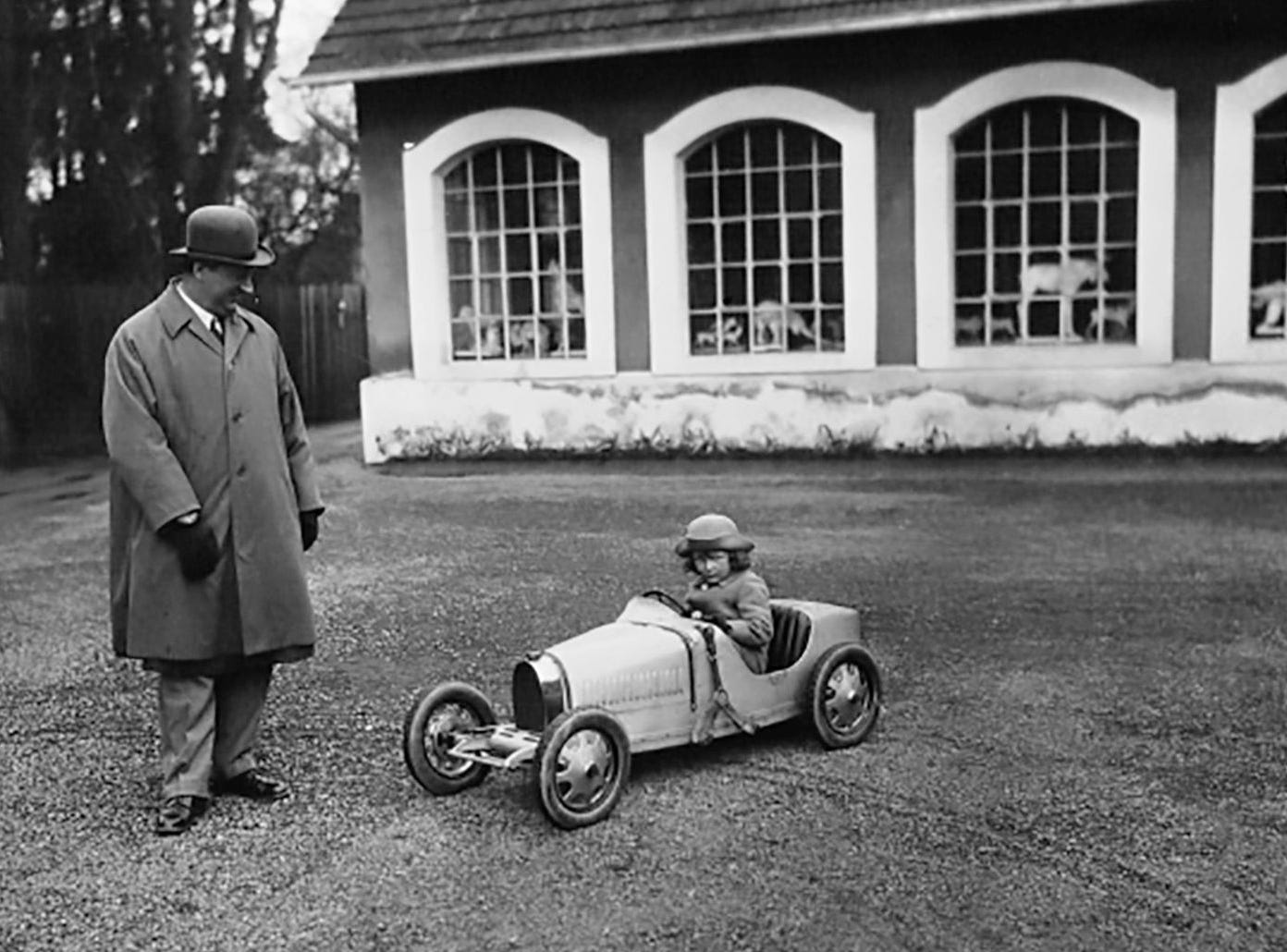 In 1926, Ettore Bugatti made a small-scale Type 35 roadster for his son Roland's birthday.