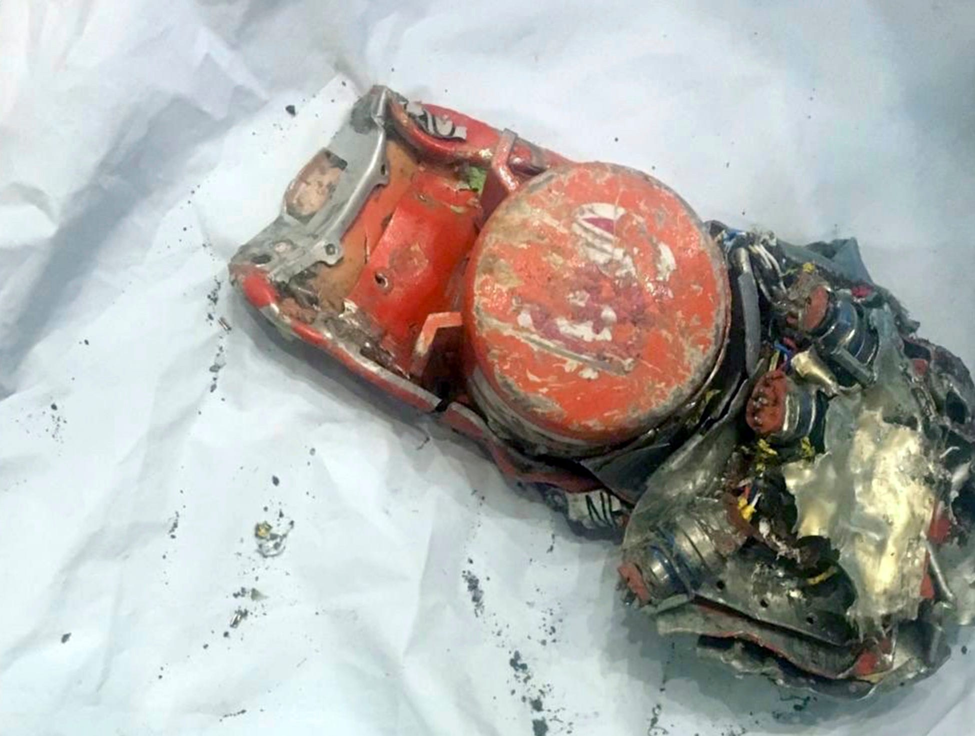 This photo provided by by the French air accident investigation authority BEA on Thursday, March 14, 2019, shows one of the black box flight recorder from the crashed Ethiopian Airlines jet, in le Bourget, north of Paris. The French air accident investigation agency has released a photo of the data recorder from the crashed Ethiopian Airlines jet. The agency, known by its French acronym BEA, received the flight's data recorder and voice recorder Thursday.