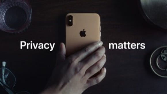 Apple's new TV spot is privacy-themed.