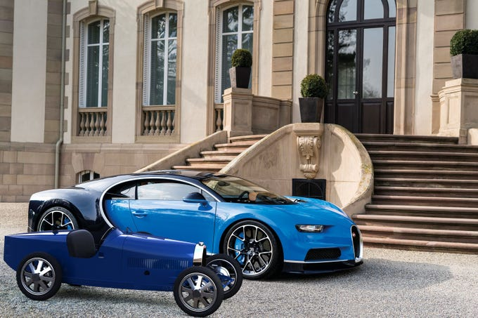 The Speed Key function on the Bugatti Baby II mimics the one found on the Chiron supercar.