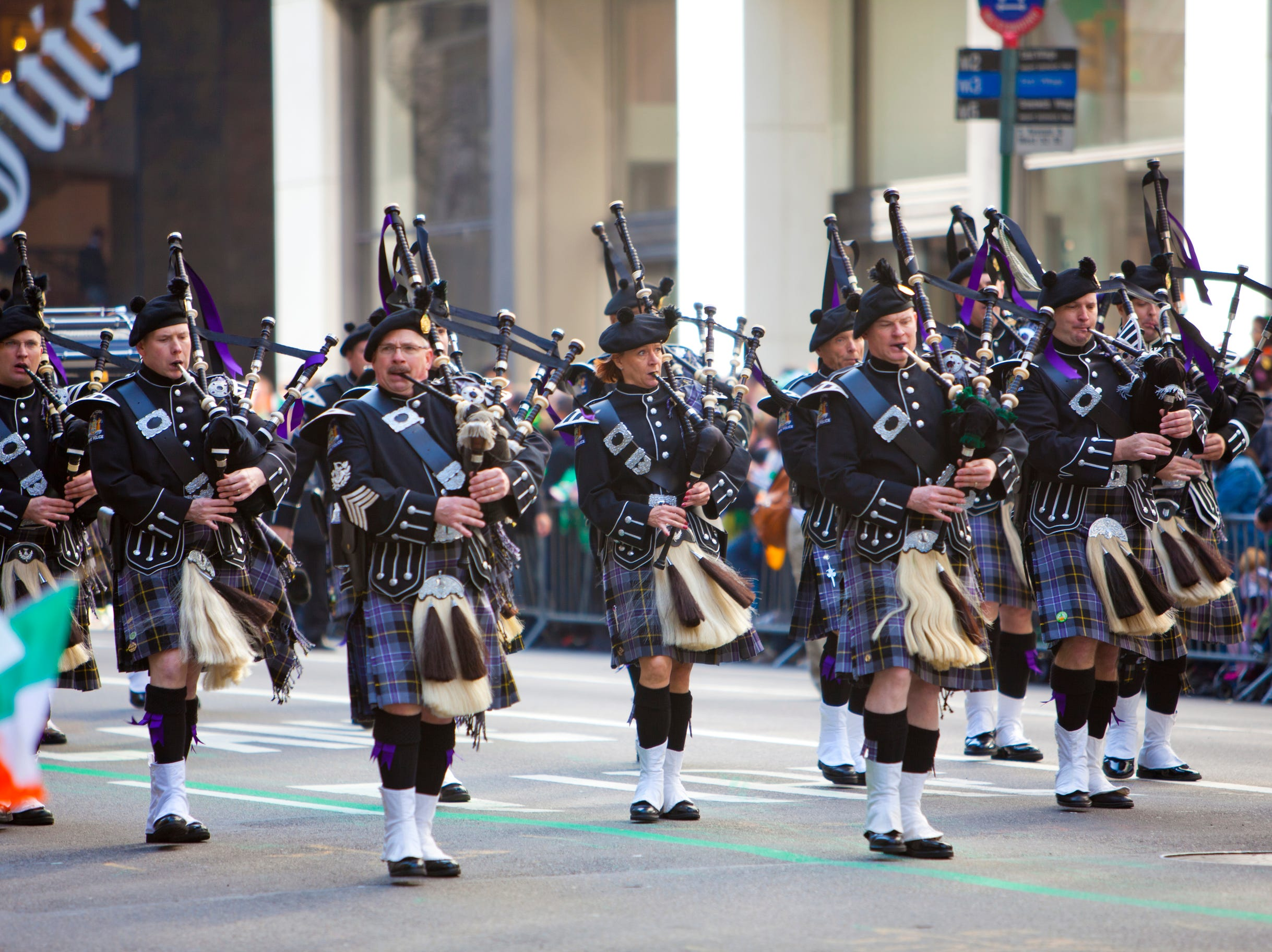 NEW YORK, NY, USA MAR 17: Bagpipers at the St. Patrick's Day Parade on March 17, 2012 in New York City, United States. - New York Stuart Monk St Patricks Day Parade