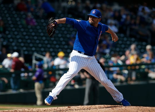 """Cubs lefty Brian Duensing; """"The game is changing. It's the way of the world, I guess."""""""
