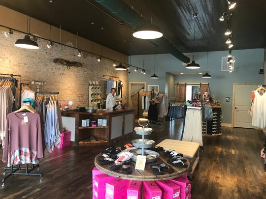 Dawn Drucker, owner of Simply Country Chic in downtown Anderson, describes her store as a boutique and an upscale general store.