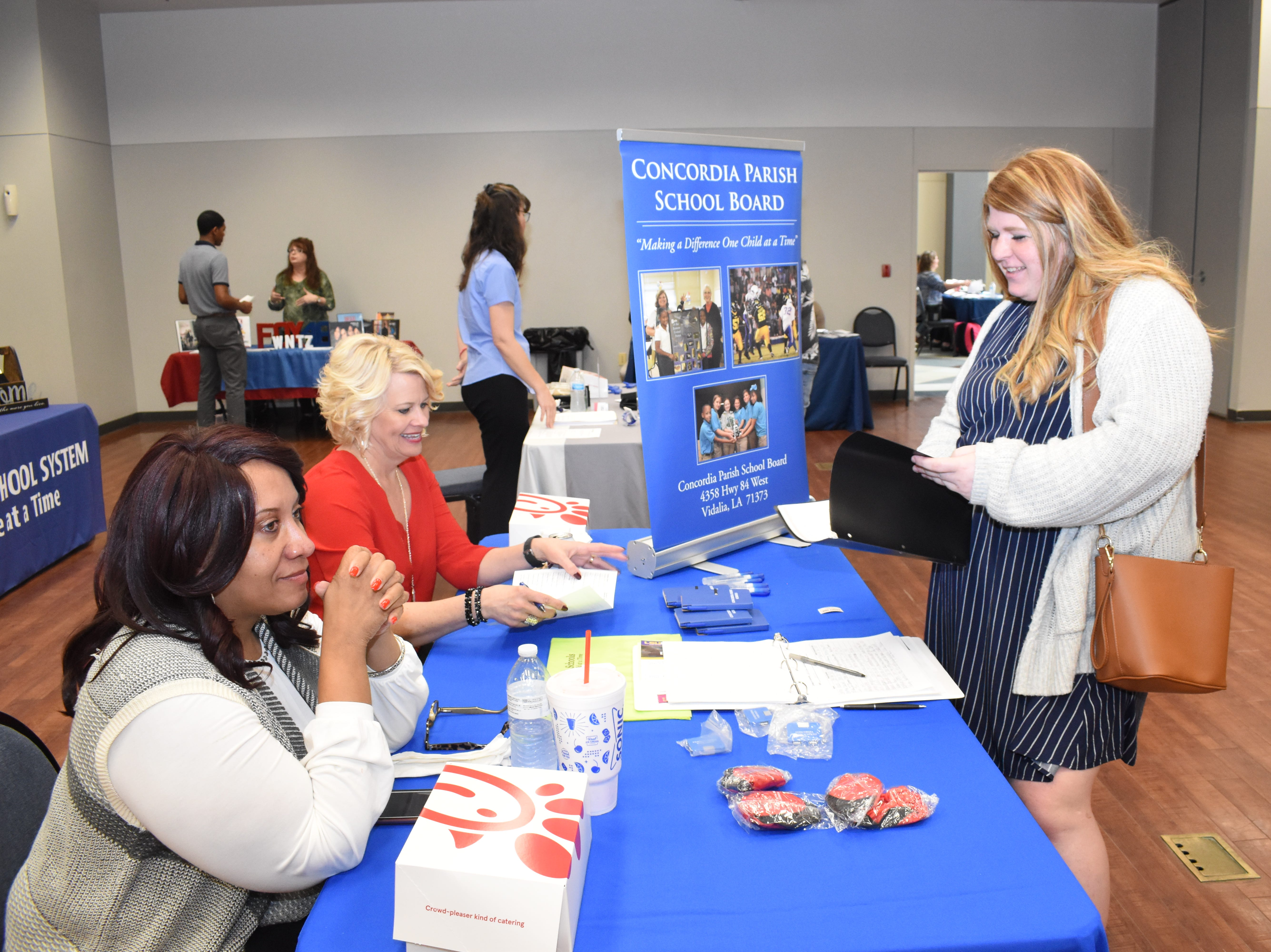 Louisiana College held a career fair Thursday, March 14, 2019. About 34 area businesses participated in the fair. Those included law enforcement, education, health care and retail.