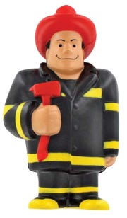 The Neenah-Menasha Firefighters Charitable Foundation is selling stress-ball firefighters for $20 each as part of a raffle to raise money for a splash pad.