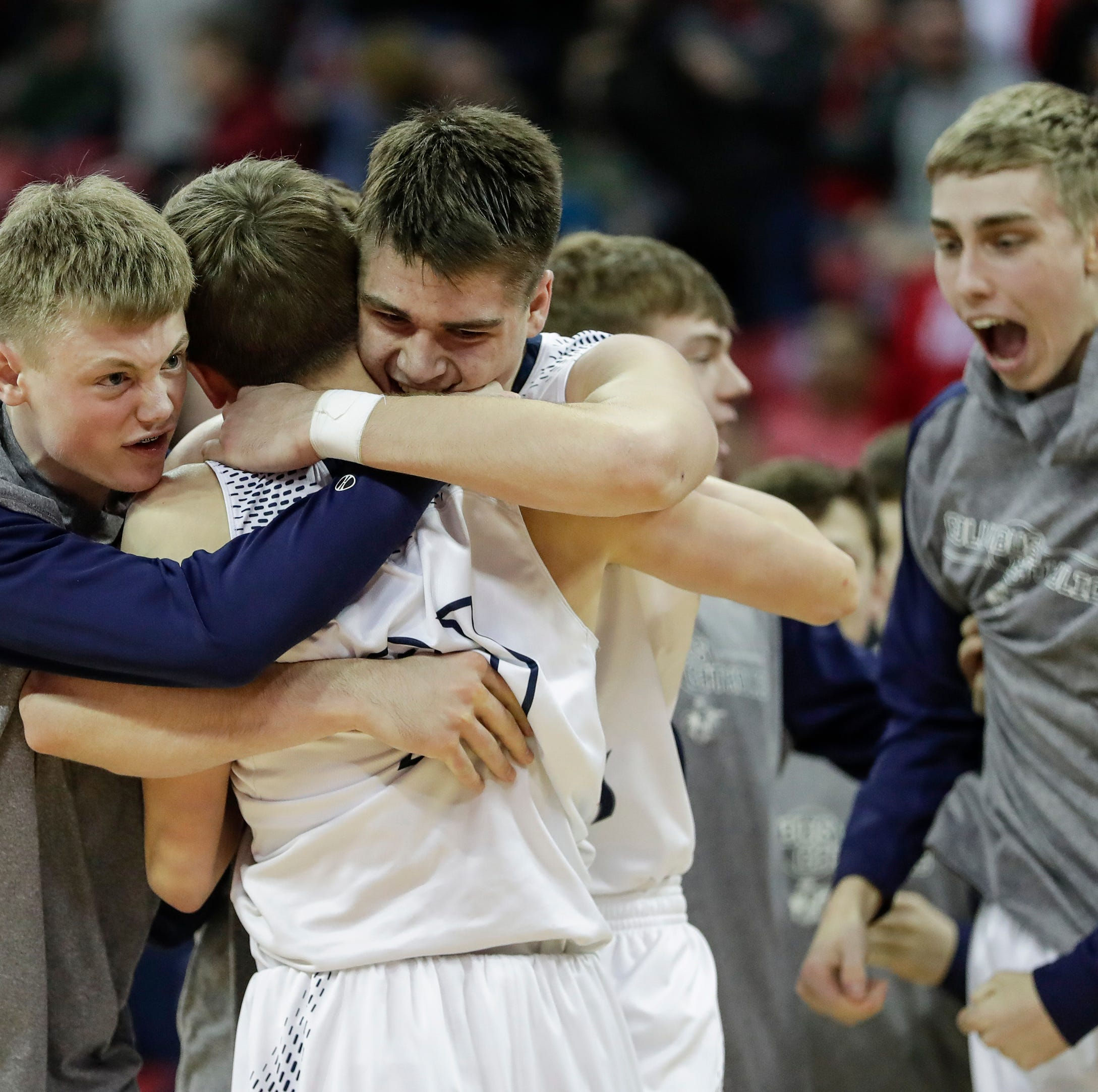 Check out every angle of Columbus Catholic's three-pointer at the buzzer in a Division 5 state semifinal win over Bangor