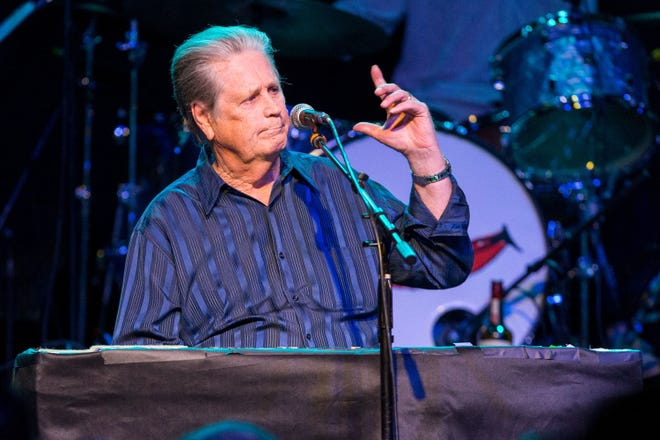 In this 2015 photo, Brian Wilson performs on stage in Los Angeles.