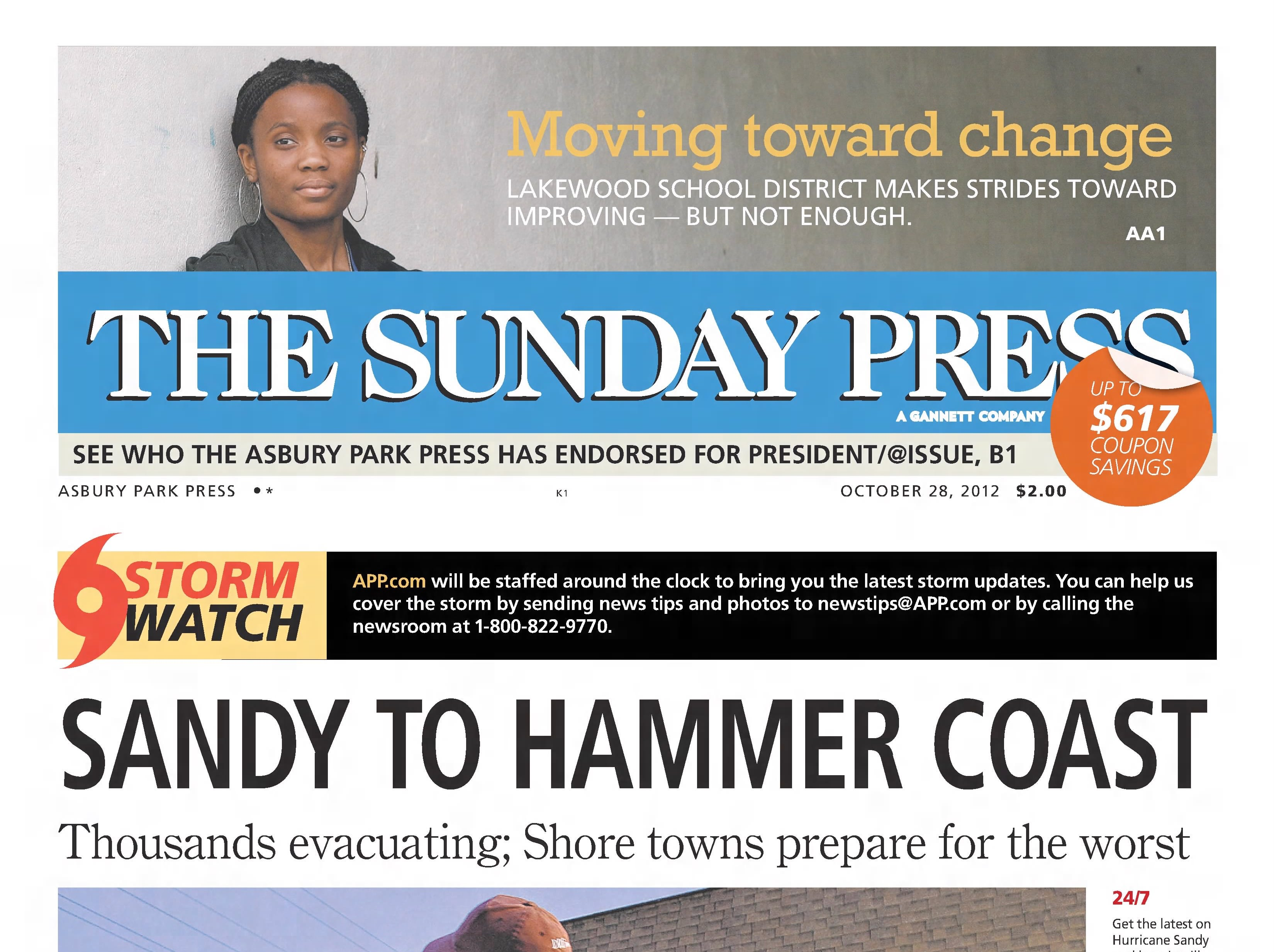Sunday, Oct. 28, 2012: The Jersey Shore braces for the worst as superstorm Sandy is expected to arrive the next day.