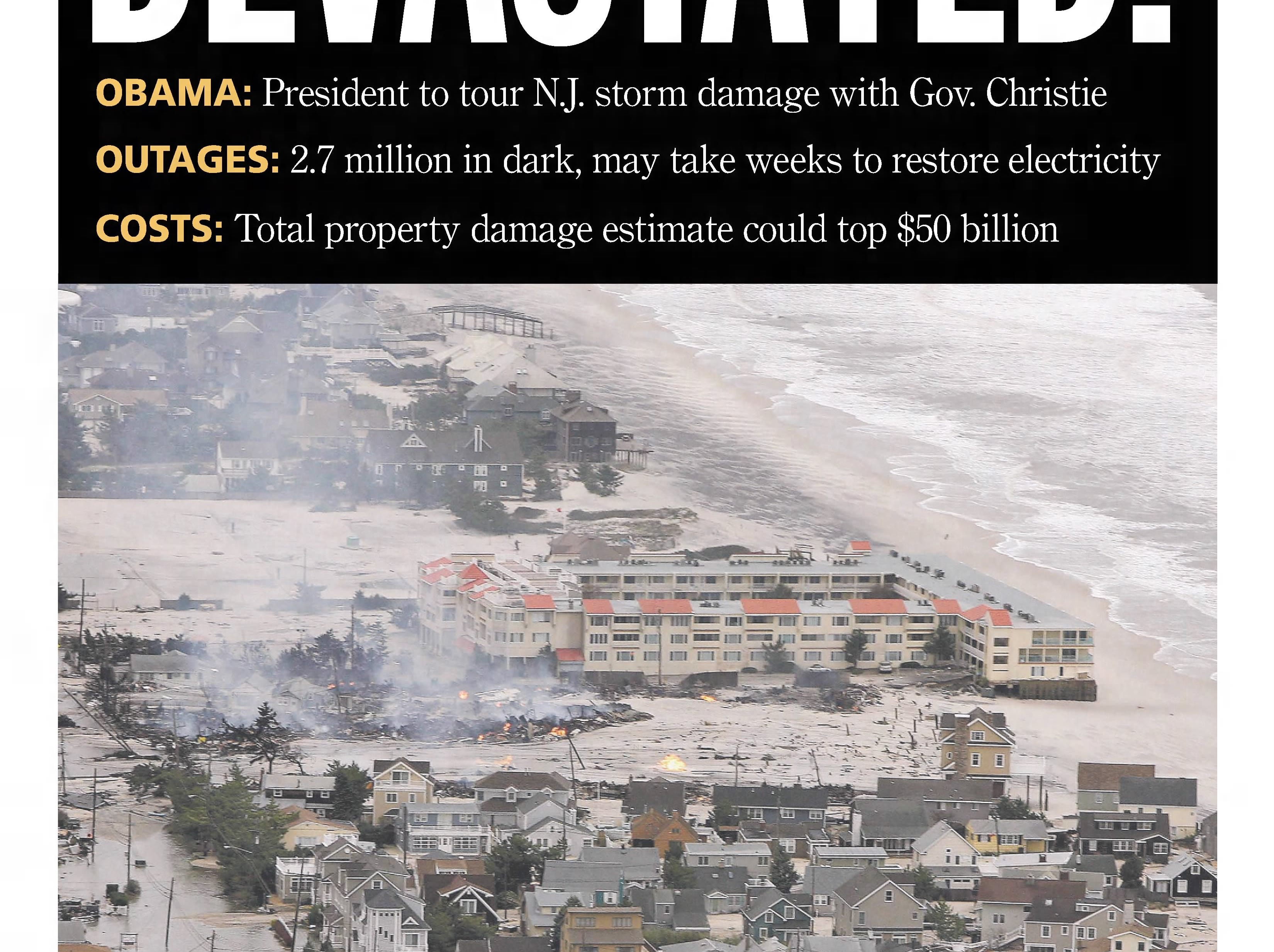 The full devastation of superstorm Sandy becomes increasingly apparent in the days after what is the worst natural disaster at the Jersey Shore in modern history. This edition is from Wednesday, Oct. 31, 2012.