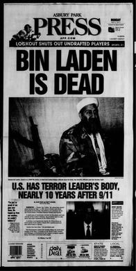 Navy SEAL Team Six finds and eliminates Osama bin Laden, the mastermind behind the 9/11 attacks, among others, who had been in hiding in Pakistan. This edition is from Monday, May 2, 2011.