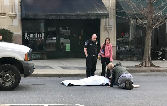 The pickup truck driver and passersby came to the assistance of a 72-year-old woman struck by a pickup truck on O. Henry Avenue Wednesday morning.