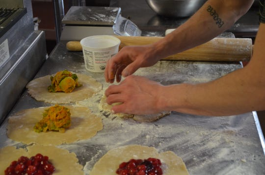 Paul Vugteveen has been making sweet and savory hand pies that have been popular with customers at his Pop-up Patisserie. This week's sweet flavor is cherry and savory is sweet potato and brussel sprout.