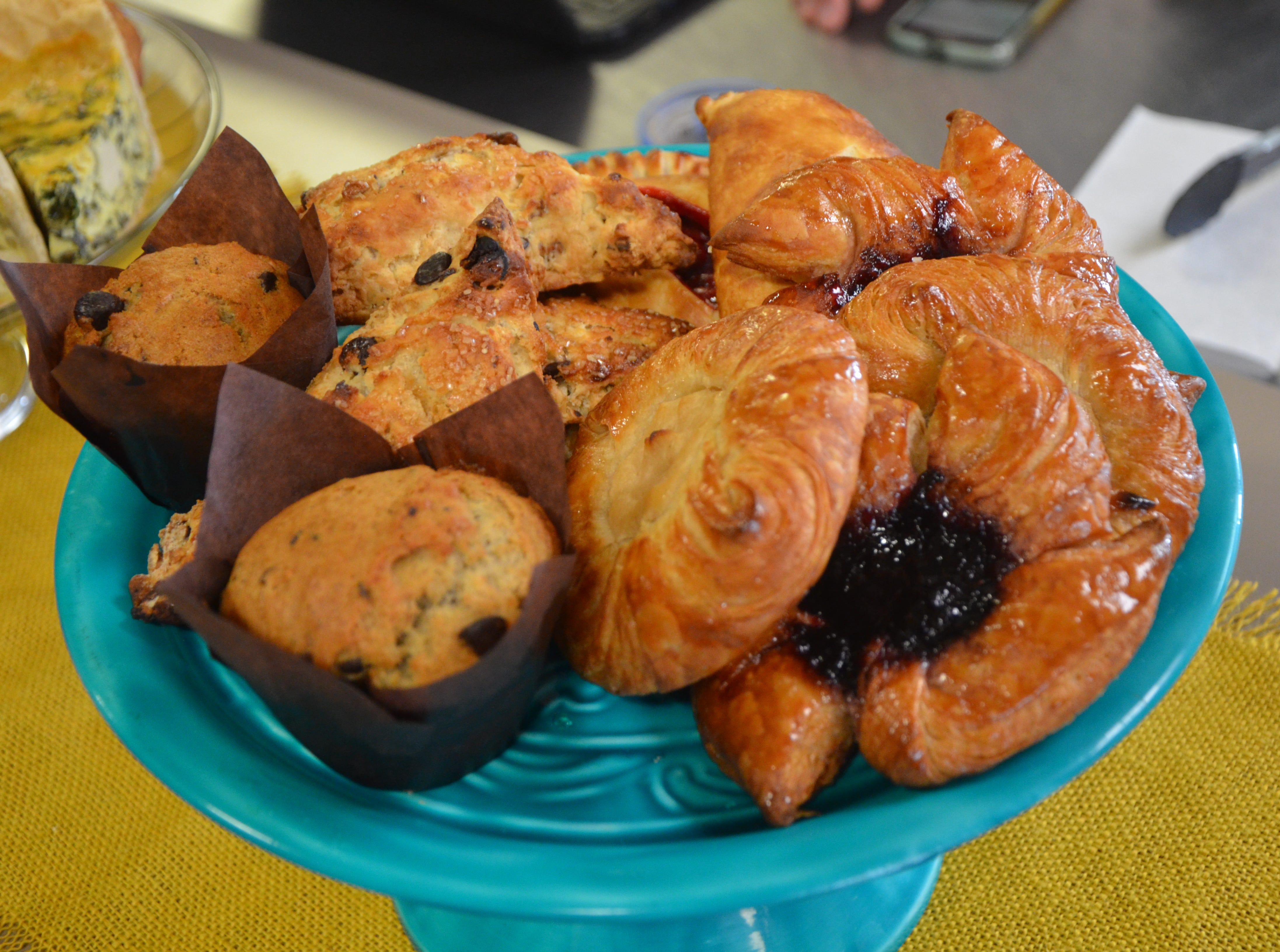 Among the sweet vegan pastries customers can find at the Pop-up Patisserie at Sprout Grocery + Kitchen, 503 Military Road, are cream cheese or blackberry danishes, walnut scones, cherry hand pies and banana chocolate chip muffins.