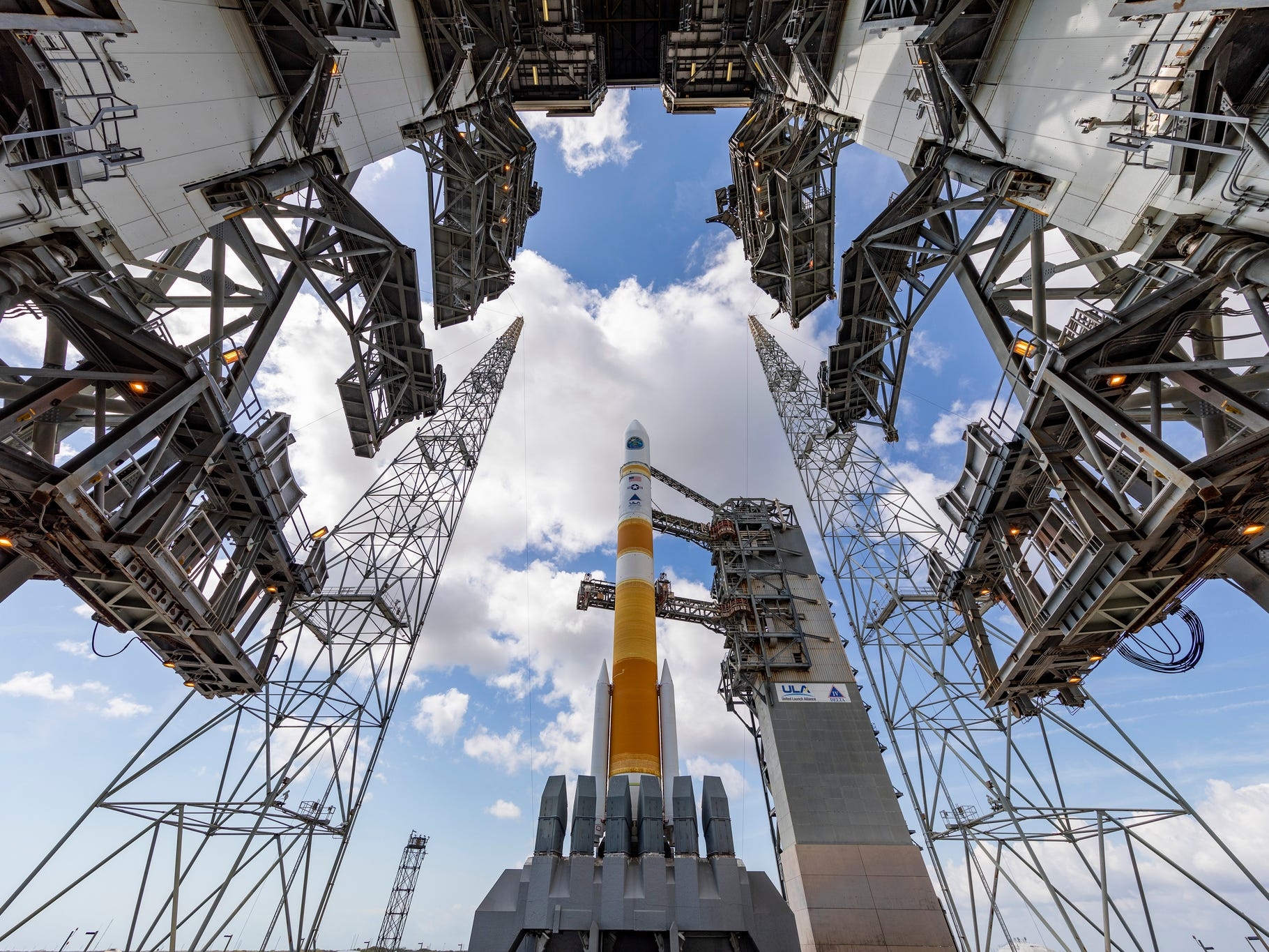 Delta IV on the pad at Cape Canaveral Air Force Station on Friday, March 15, 2019.
