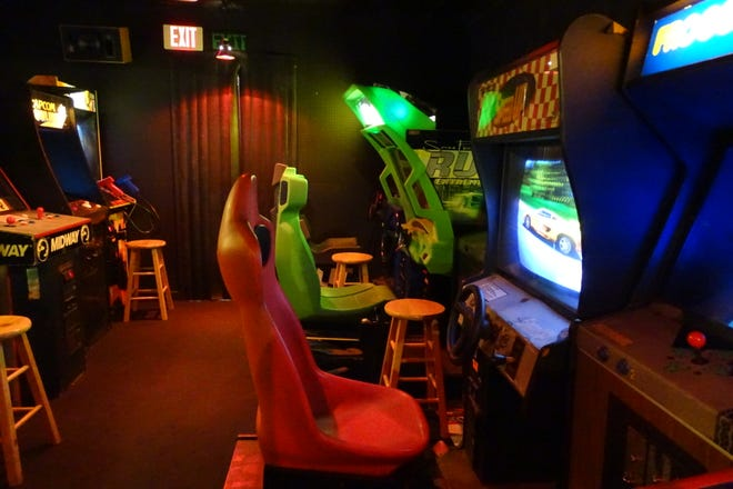 The arcade at Flashback Vintage Game Room in Bucyrus features a wide variety of games.