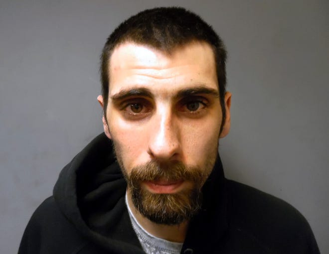 This booking photo released by the Vermont State Police shows Shawn Laplant, of Rutland, Vt., arrested Friday, March 15, 2019, in Rutland in connection with the death Alicia Harrington, who was found dead on March 6 in a car in Proctor, Vt.