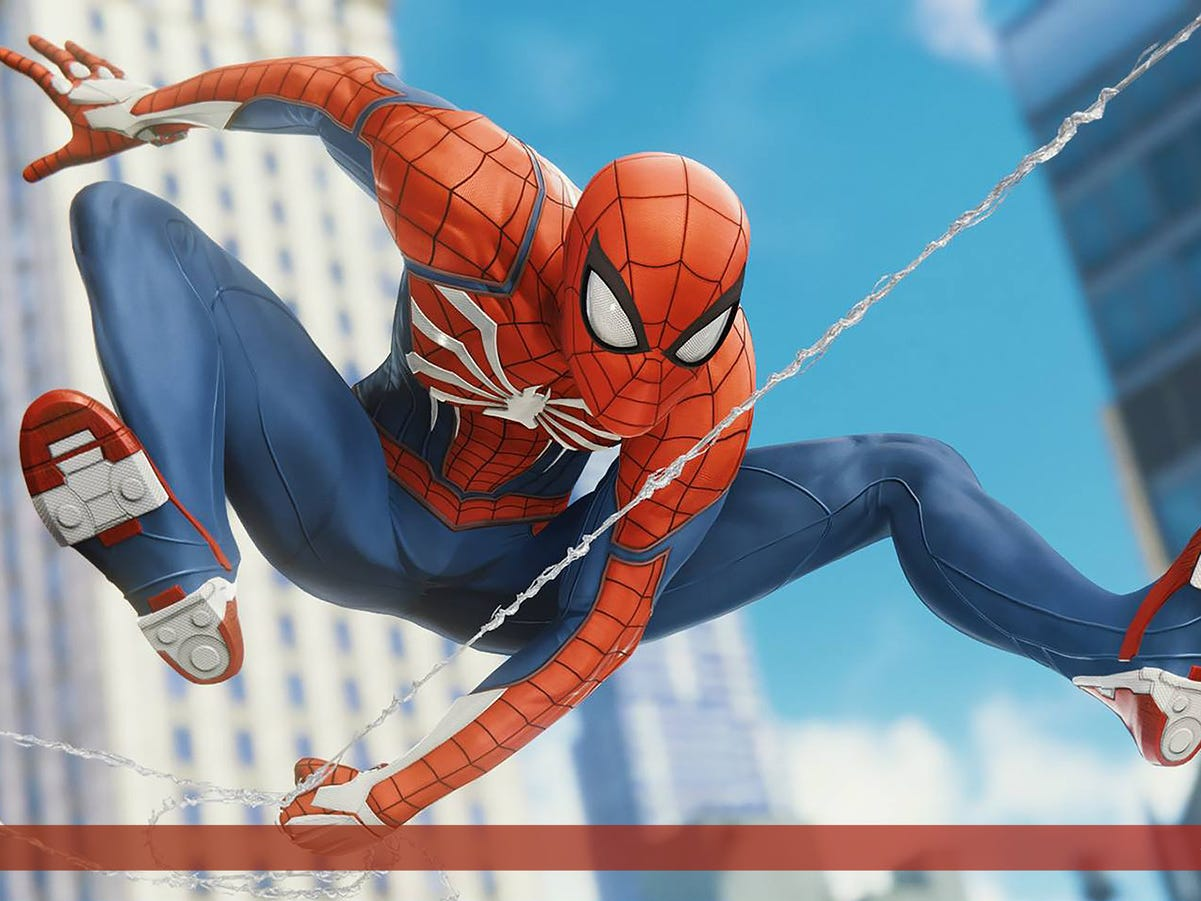 """Champlain College senior Jen Carlin: """"I had the pleasure of interning at Insomniac Games this summer, and assisting the lighting team on Marvel's Spider-Man. One of my bigger tasks was to light the dynamic loading screens in the game."""" More from Carlin at: www.artstation.com/jensie"""