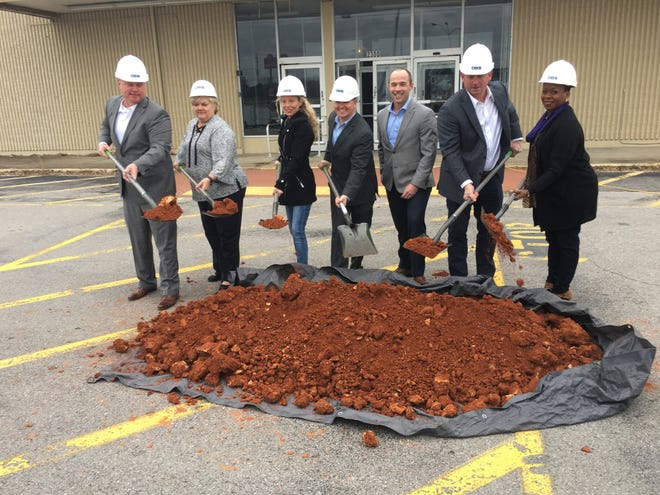 Local officials join Rise Partners to officially break ground Friday for the makeover of the former Madison Street Kmart shopping center.