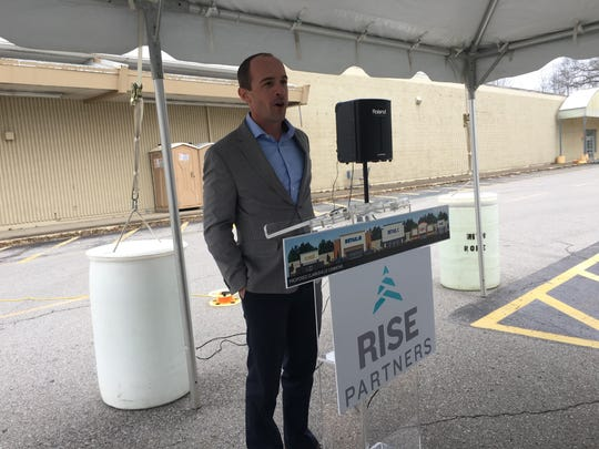 Matt Phillips with Rise Partners thanks local elected officials and community leaders Friday for being active partners in the Madison Street Kmart redevelopment project.