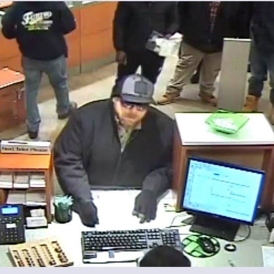 Piscataway bank robber at large