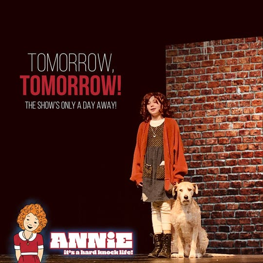 """Pixie Dust Players is presenting """"Annie"""" at Union County Performing Arts Center's Hamilton Stage in Rahway. Upcoming show times are 7 p.m.Friday, March 22, and Saturday, March 23, and 2 p.m.Sunday, March 24."""