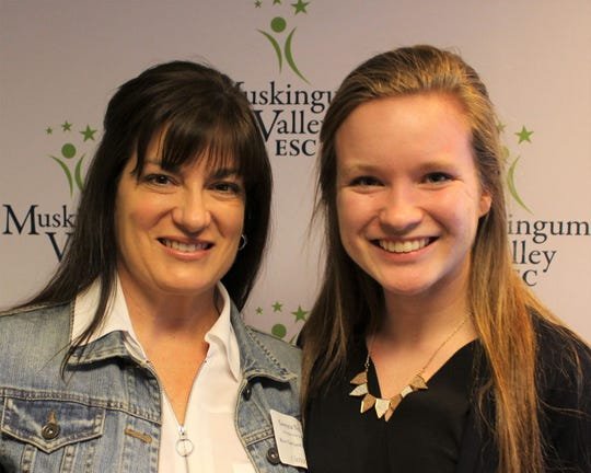 Gwenna Neal with Alicia Lonsigner of River View High School.