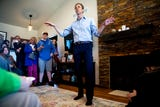 Beto O'Rourke, Democratic candidate for president from Texas, spoke about ethanol, wind energy and climate change while taking questions in Fairfield.