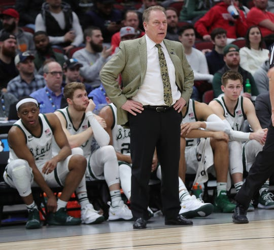 Tom Izzo during the second half against Ohio State on Friday in Chicago.
