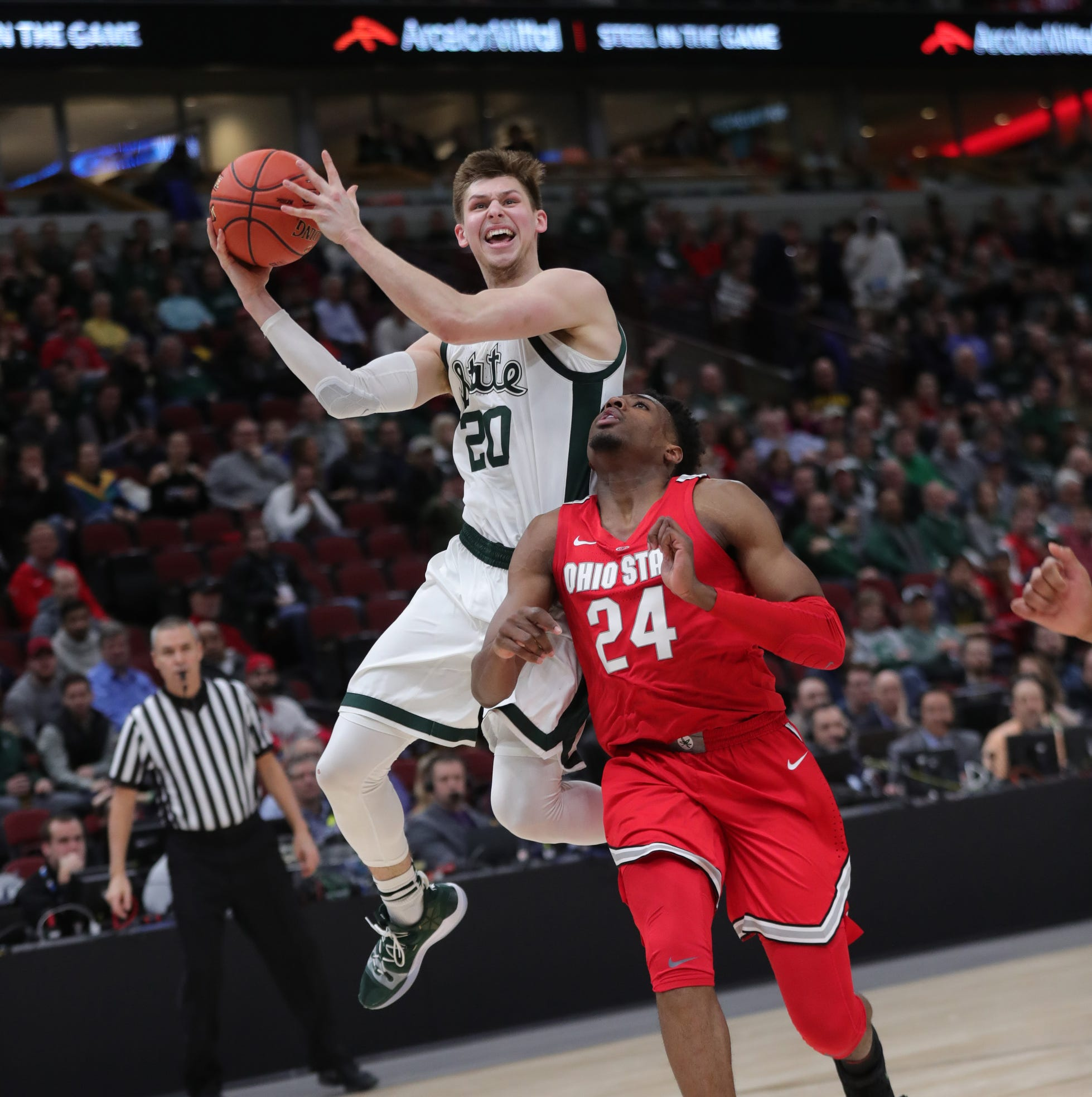 Michigan State basketball pulls away from Ohio State in Big Ten tournament, 77-70