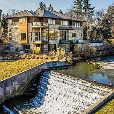 MI Dream Home: $4.9M Birmingham house with lake, waterfall view