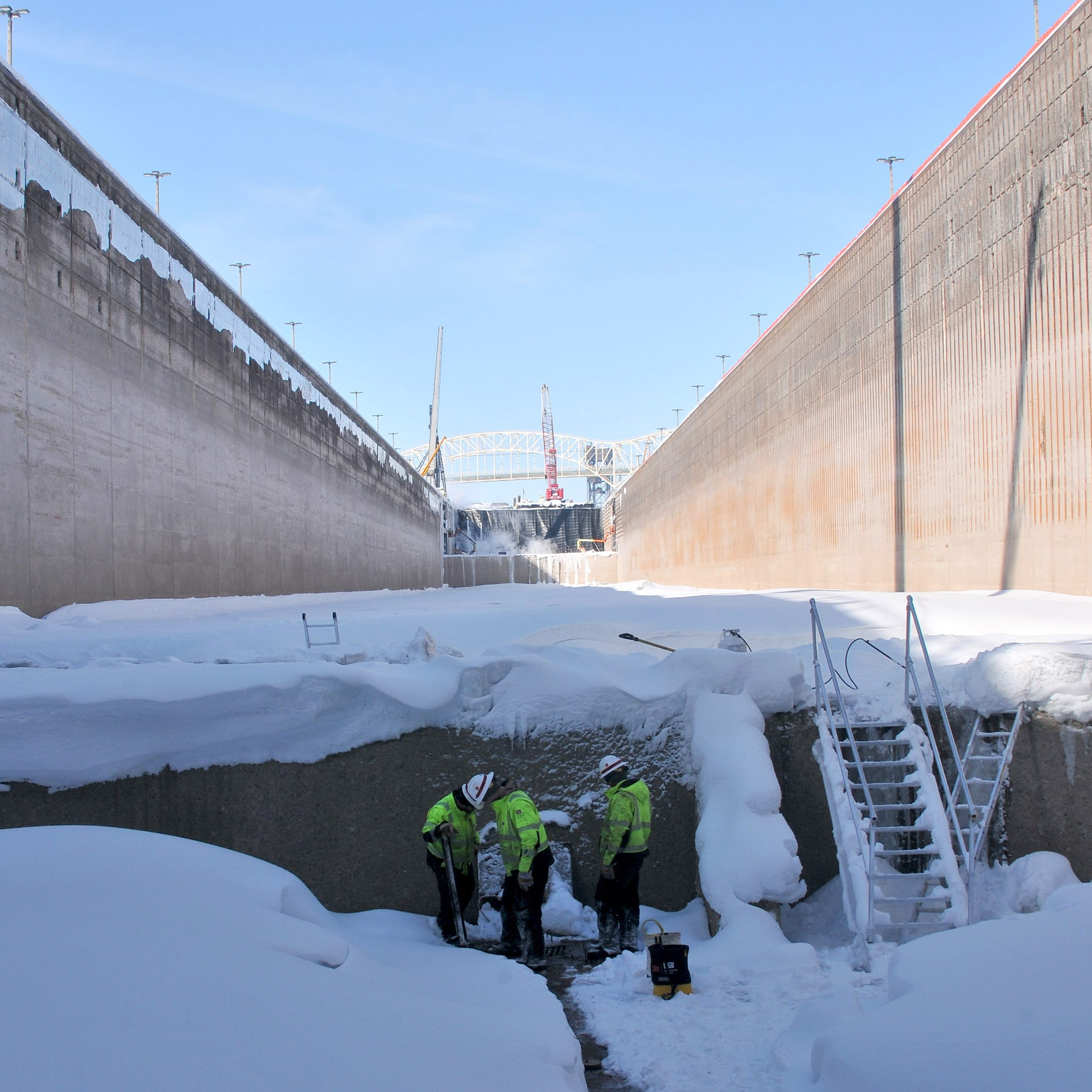 Maintenance at frozen Soo Locks gets 'more intense'