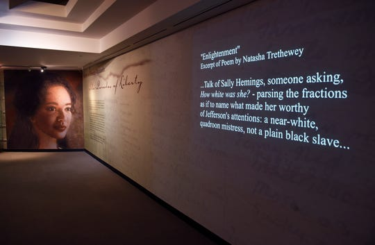 The entrance of the exhibit featuring Sally Hemings.