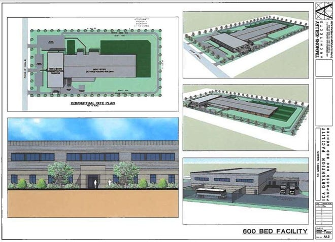 Immigration Centers of America renderings for a proposed detention center in Ionia, Michigan.