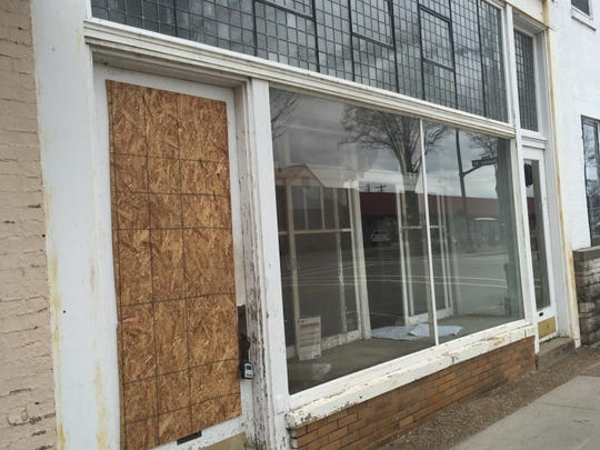 The front of 22 NW Sixth St., across from Victory Theatre, where The Arcademie bar and arcade is planned.